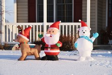Inflatable Santa And Friends