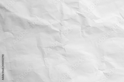 Canvastavla crumpled white paper texture background