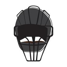 Isolated Baseball Helmet. Softball Play - Vector Illustration