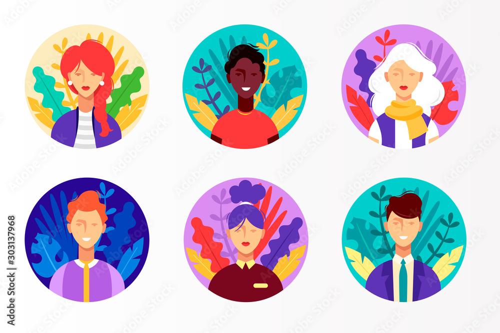 Fényképezés Set of colorful vector icons