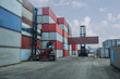Container handlers Working in a harbor