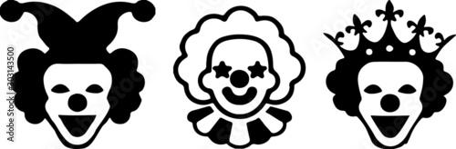 Obraz na plátně  joker icon isolated on white background
