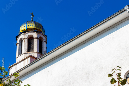Fotografia  Eastern Orthodox Church of the Assumption of Saint Mary beautiful shiny dome in