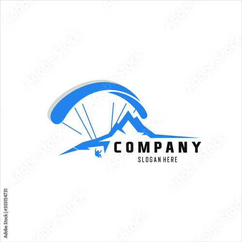 Photo High Adventure Paragliding logo design inspiration