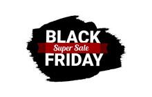 Black Friday Super Sale Flyer Banner Illustration