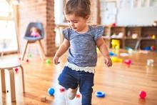 Beautiful Toddler Standing Aro...