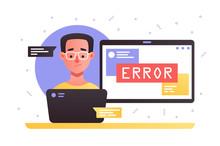 Laptop With Service Error