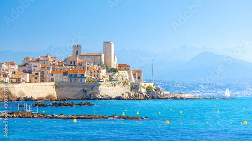 Foto auf AluDibond Blau Historic center of Antibes, French Riviera, Provence, France