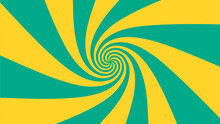 Vector - Yellow And Green Abst...