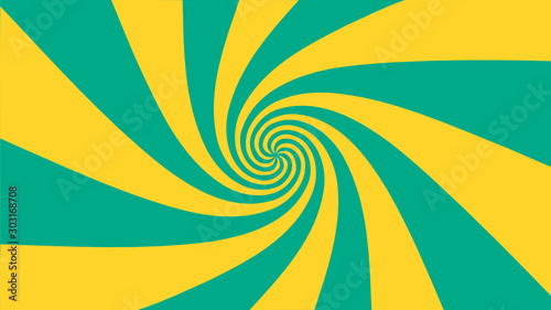 Obraz Vector - Yellow and green abstract vortex background.Bursting,Radial,radiating pattern - fototapety do salonu