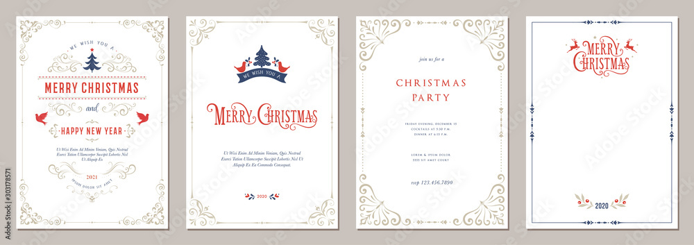 Fototapeta Business and Corporate Holiday Cards.