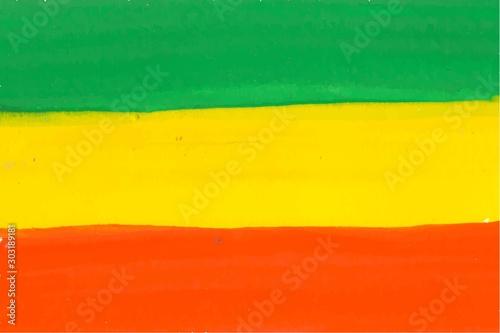 Obraz na plátně Colorful Rastafarian flag vector background