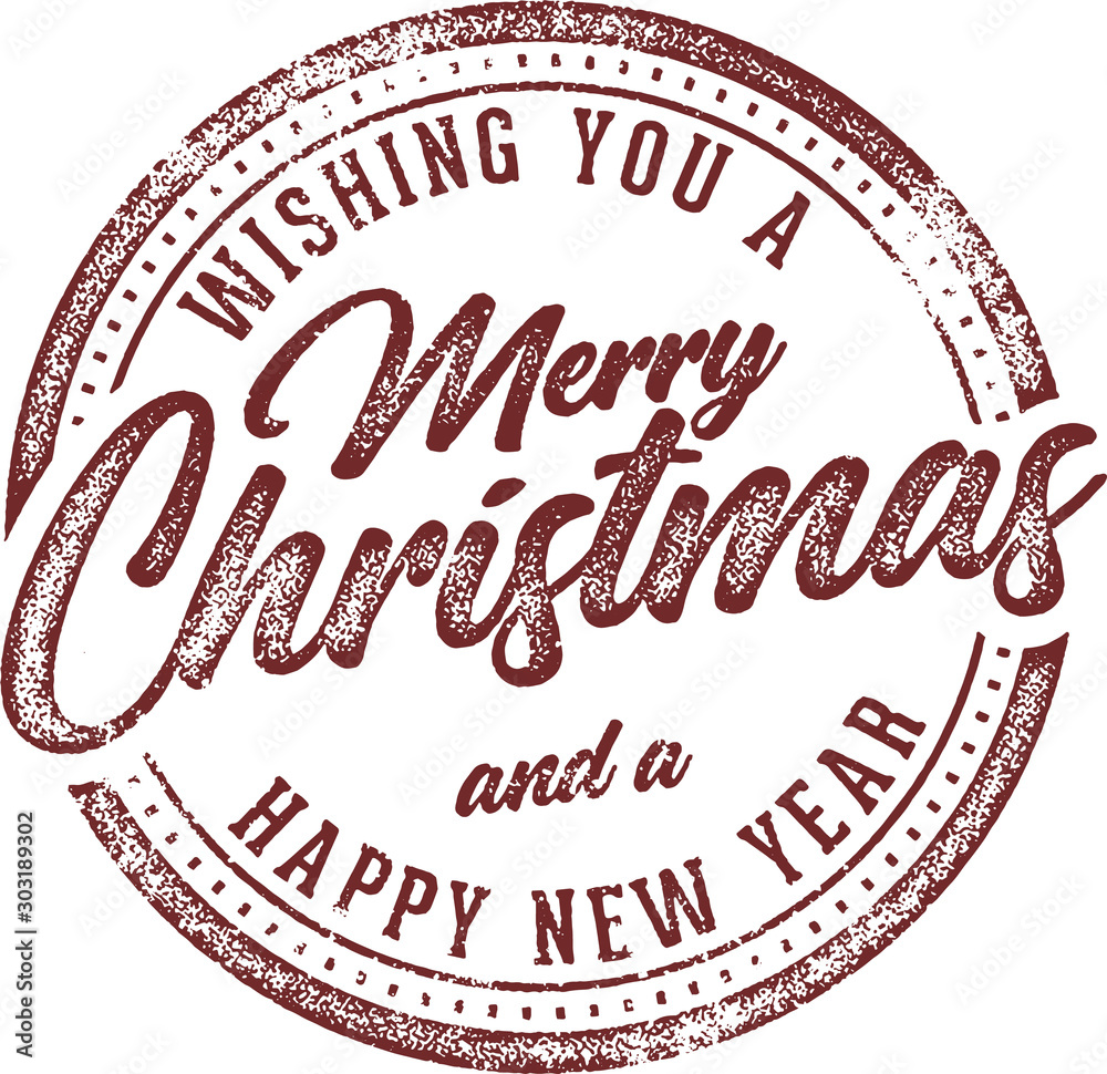 Fototapety, obrazy: Merry Christmas and Happy New Year Holiday Card Design Element
