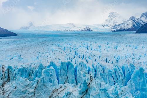 Closeup of Perito Moreno Glacier in Patagonia, Argentina Poster Mural XXL