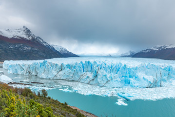 Panoramic view of Perito Moreno Glacier in Patagonia, Argentina