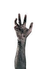 Zombie Hand Dirty With Soil Is...