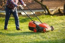 Mowing Trimmer - Worker Cuttin...