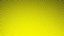 Yellow With Black Modern Pop A...