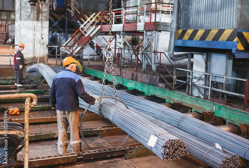 Photo building armature are located in the warehouse of metallurgical products