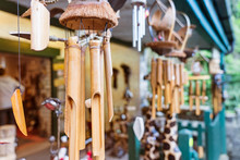Close Up Bamboo Wind Chimes Ha...