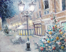 Oil Painting - Beautiful Snowy...
