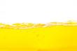 canvas print picture - Orange water splash , Orange  Water Surface Splash and bubbles on white background.