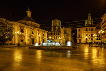 Turia Fountain On Square Of Th...
