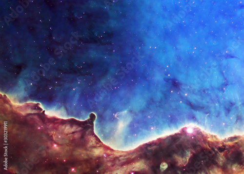Somewhere in deep space Canvas-taulu
