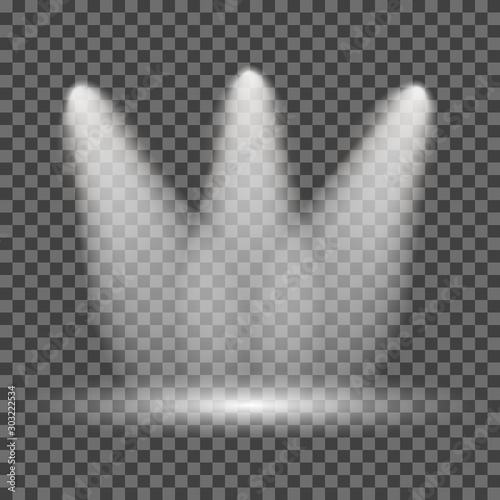 Illuminated spotlight on transparent background – for stock Fototapete