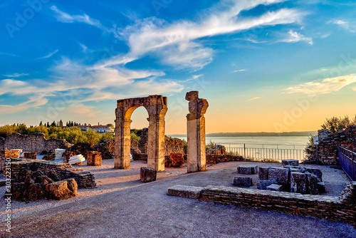 Fototapeta Grottoes of Catullus is the name given to the ruins of a Roman villa which was b