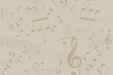Music Notes On Faded Textured ...