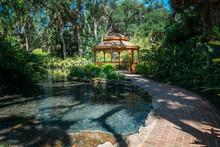 Gazebo In Washington Oaks Gardens State Park In Palm Coast, Florida