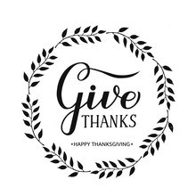 Give Thanks Modern Calligraphy...