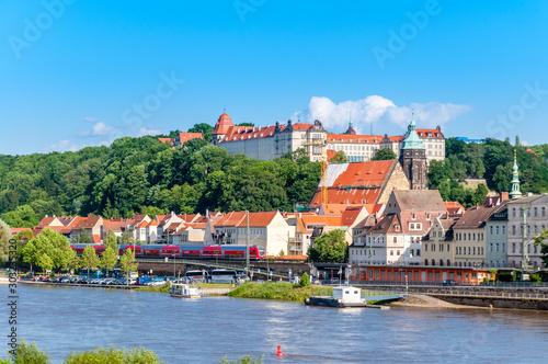 Foto auf AluDibond Blau Pirna Altstadt - Sachsen