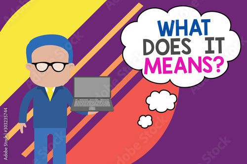 Handwriting text writing What Does It Means question Wallpaper Mural