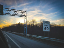 Sunset Over Highway In Clevela...