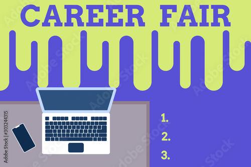 Valokuva  Text sign showing Career Fair