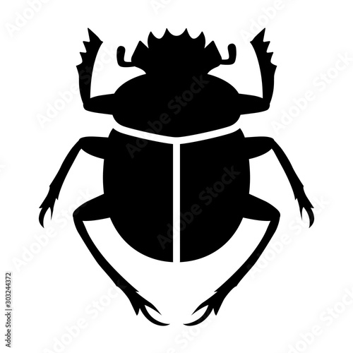 Papel de parede Scarabaeus sacer / sacred scarab dung beetle flat vector for apps and websites