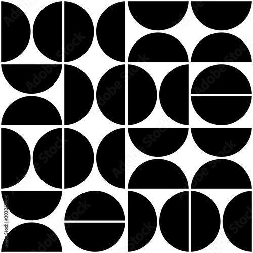 Piękne obrazy  vector-geometric-seamless-pattern-with-semicircles-abstract-minimalistic-background