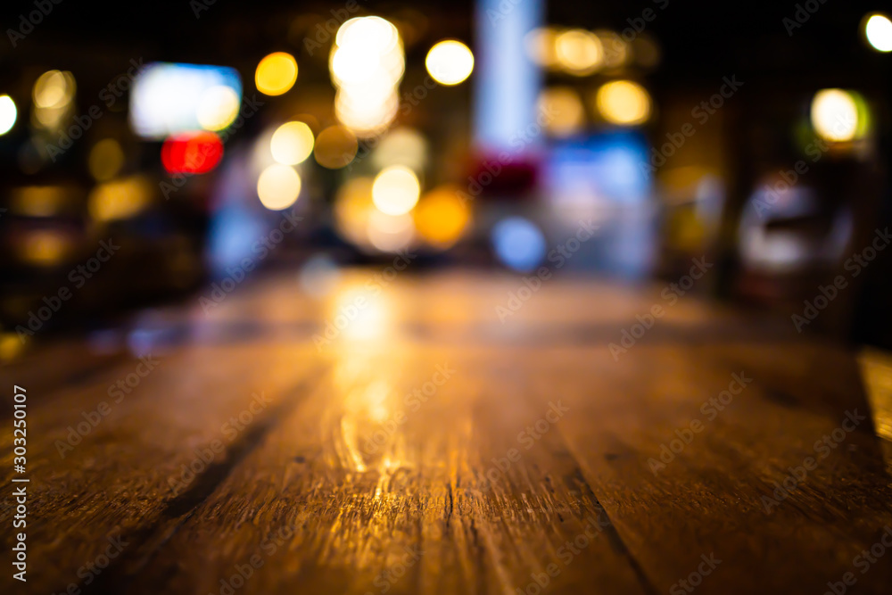Fototapety, obrazy: Abstract blur bokeh lights background