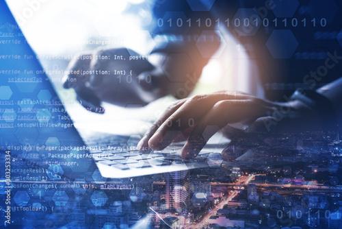 Cuadros en Lienzo Digital software development concept