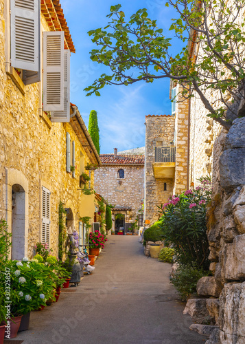 View of Gourdon, a small medieval village in Provence, France #303258517