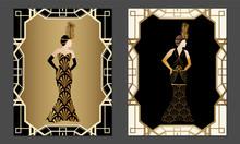 Geometric Gatsby Art Deco Styl...