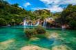 canvas print picture - Amazing Krka National Park with majestic waterfalls, Sibenik, Dalmatia, Croatia