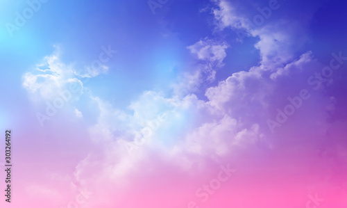 Photo  The magical imagination of the sky, the magic of the sky, the pastel clouds for