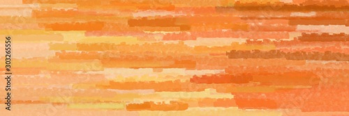 Canvastavla various horizontal lines graphic illustration with coral, burly wood and light s