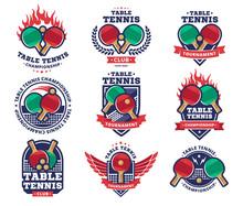 Table Tennis, Ping Pong Vector...