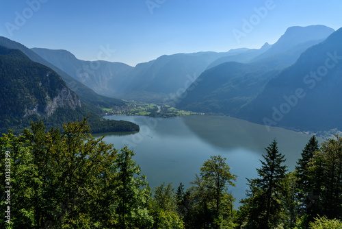 Hallstatt Lake view from above, Austria Wallpaper Mural