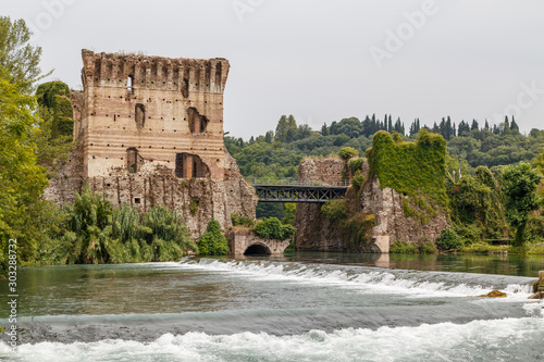 Medieval fortifications of Borghetto town, Italy Tapéta, Fotótapéta