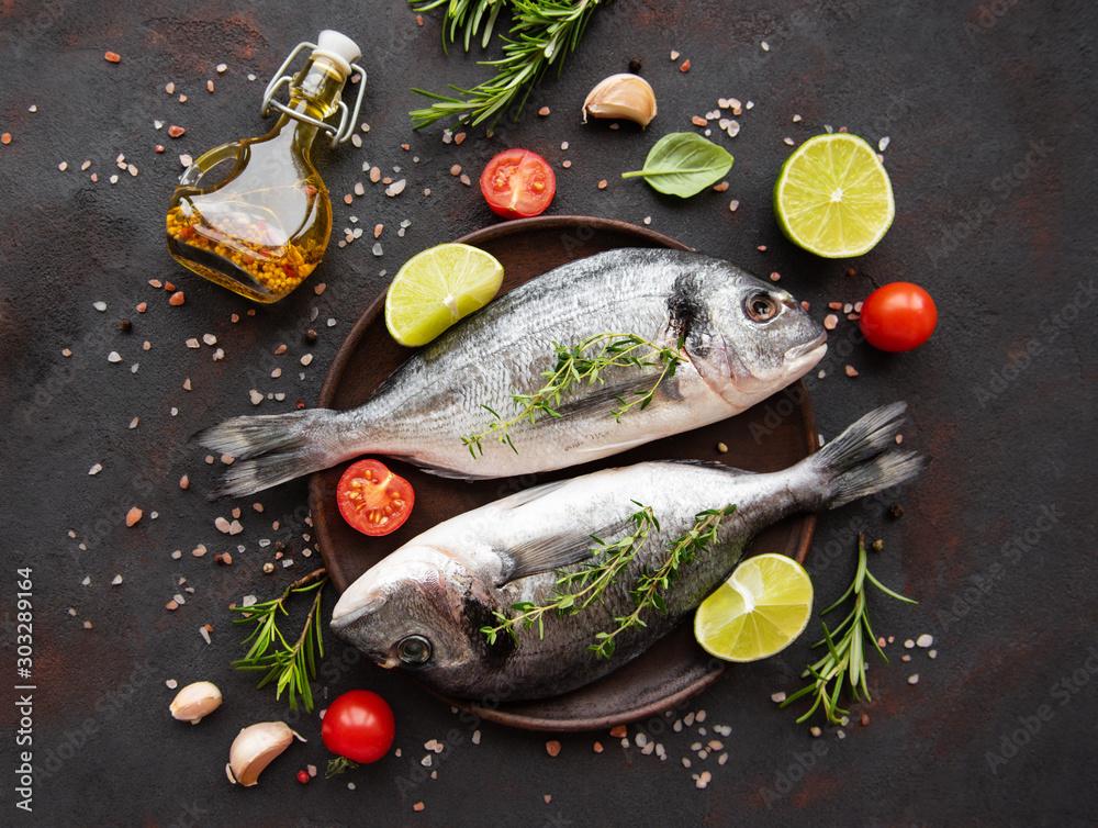 Fototapety, obrazy: Fresh fish dorado